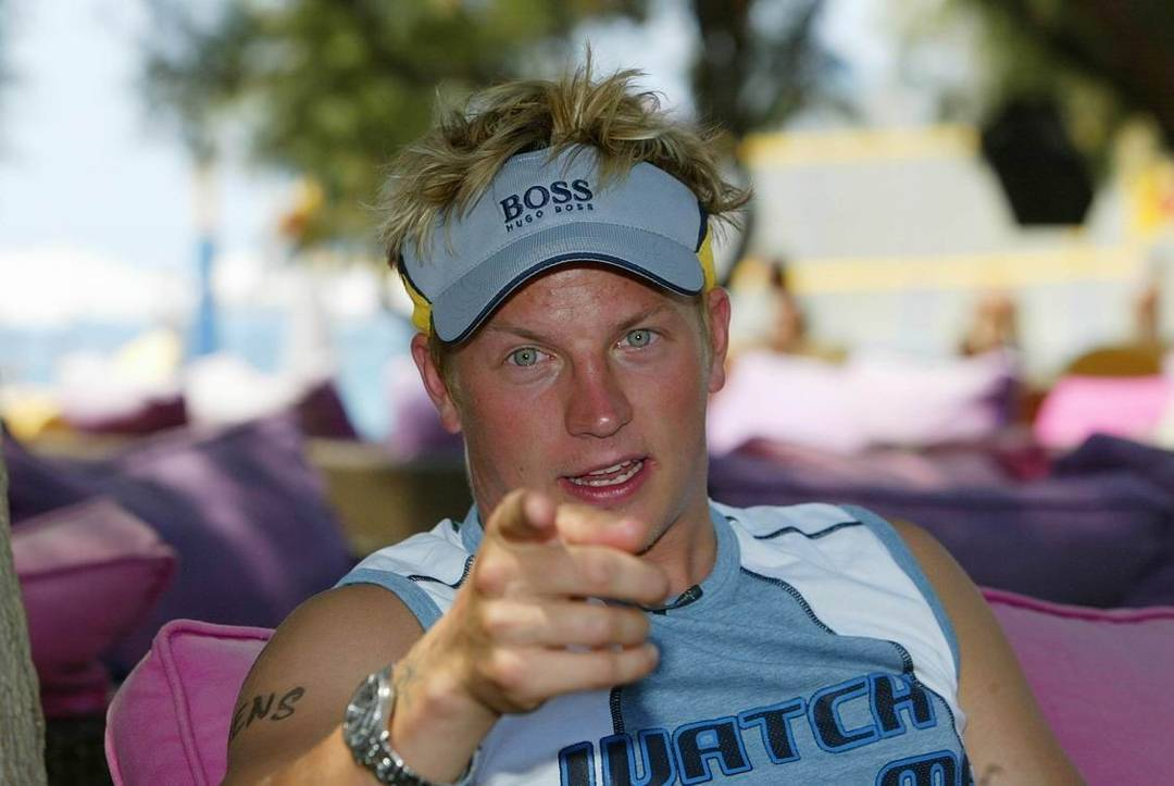 Kimi at the Olympic Games in 2004